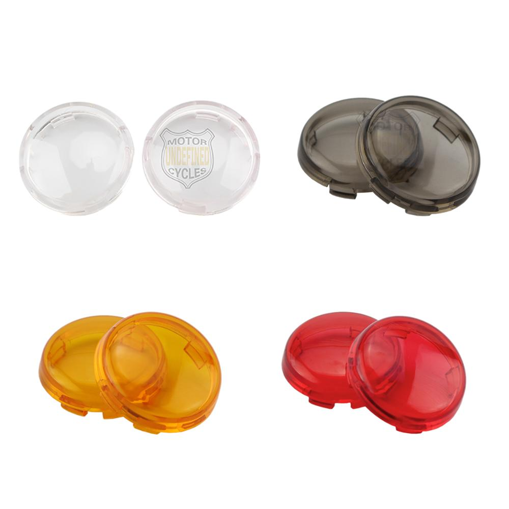 1 Pair Clear Turn Signals Light Lens Cover For Harley Sportster Dyna XL883 1200