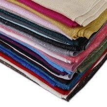 Женская мода простой Люрексовый Блестящий кистовидная вискоза шарф мягкий тонкий ободок обертывание платок Sjaal Bufanda мусульманский хиджаб 160*70 см