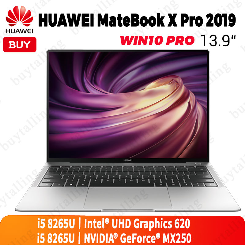 Original HUAWEI MateBook X Pro 2019 Laptop 13.9 inches Intel Core i5 8265U 8GB LPDDR3 512GB SSD Windows 10 Pro EnglishLaptops   -