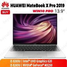 Oryginalny HUAWEI MateBook X Pro 2019 Laptop 13.9 cali Intel Core i5 8265U 8GB LPDDR3 512GB SSD Windows 10 Pro angielski