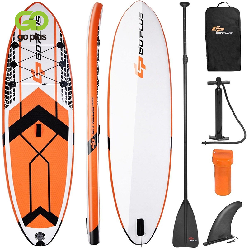 GO PLUS 10.5' SUP Inflatable Stand Up Paddle Board With Adjustable Backpack