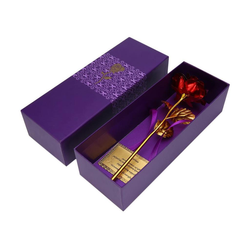Creative 24k Gold Foil Plated Rose Creative Gifts Lasts Forever Rose For Lover's Wedding Christmas Day Gifts