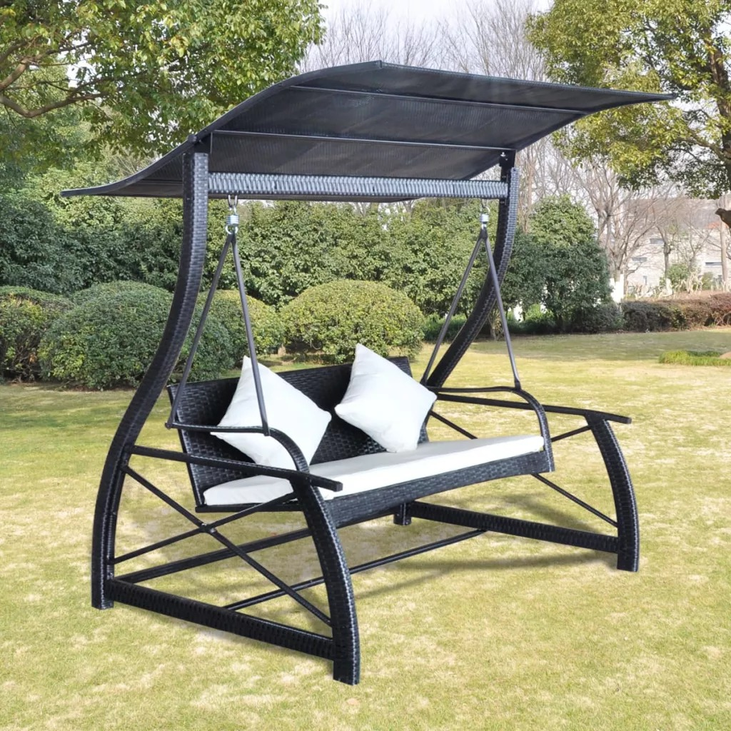 VidaXL Swing Garden Chair Braided Frame 167x130x178 Cm Durable And Waterproof Suitable For Patio Balcony Garden V3