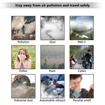 Activated Carbon Filter Masks PM2.5 Double Air Valve Reusable Cycling Face Mask Anti-virus Anti-fog Windproof Prevent Flu Masks 1