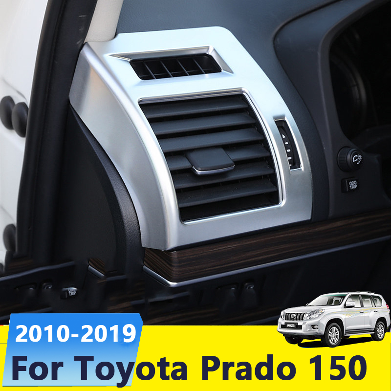 For <font><b>Toyota</b></font> Land Cruiser <font><b>Prado</b></font> 150 2010-<font><b>2019</b></font> ABS Chrome Dashboard Air Vent Trim Cover Outlet Bezel Frame Garnish Molding Surround image