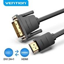 VentionสายHDMI TO DVI DVI D 24 + 1 ขาชาย 1080P HD 3Dสายอะแดปเตอร์สำหรับMONITOR PS4 โปรเจคเตอร์สายHDMIความเร็วสูง