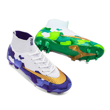 New Arrival Outdoor Soccer Shoes Waterproof Non-Slip Football Boots Ankle Training Sneakers Cleats Sports Unisex