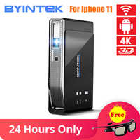 BYINTEK UFO R15 Smart Android WIFI Video Home Theater LED Portable USB Mini HD DLP 3D Projector for 1080P HDMI 4K for Iphone 11
