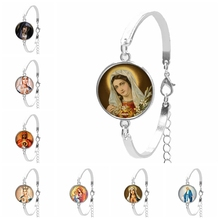 2019 Hot Sale Jewelry Virgin Mary Glass Convex Fashion Ladies Bracelet Accessories Gift  From The Batch
