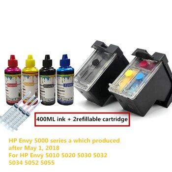 Envy 5000 Серия новая версия 65 многоразовый картридж для Hp Envy 5010 5020 5030 5032 5034 5052 Deskjet 5055 3720 принтер