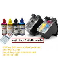 Envy 5000 Series Nova Versão 65 Cartucho recarregável para Hp Envy 5010 5020 5030 5032 5034 5052 5055 Deskjet 3720 Printer 3755