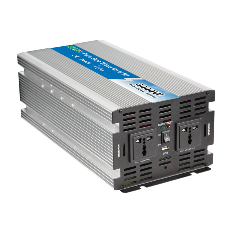 High quality OPIP-6000W 12v 24v 48v dc input ac output pure sine wave 6000w solar panel inverter image
