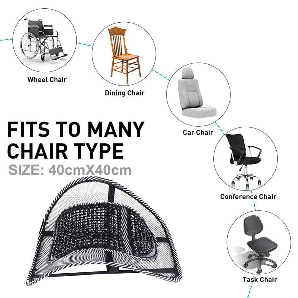 Автомобильный массажер на спинку сиденья, массажер из вискозы, с поясничной сеткой и поддержкой талии, облегчающий офисный и домашний коврик для стульев и сидений в машине, для дома и офиса