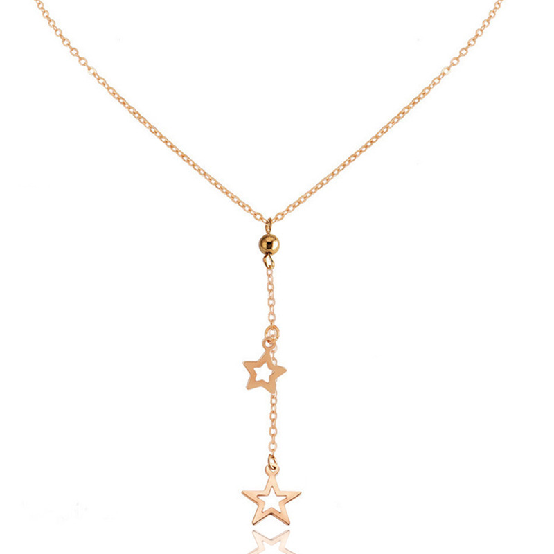 CSHOU126 Woman fashion necklace personality simple five-pointed star pendant necklace female
