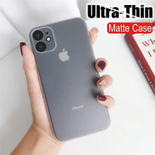 0.3mm Ultra Thin PP Case On The For Iphone 11 Pro XS Max X XR Full Cover For Iphone 7 8 6S 6 Plus Case 5 5S SE Slim Matte Coque(China)