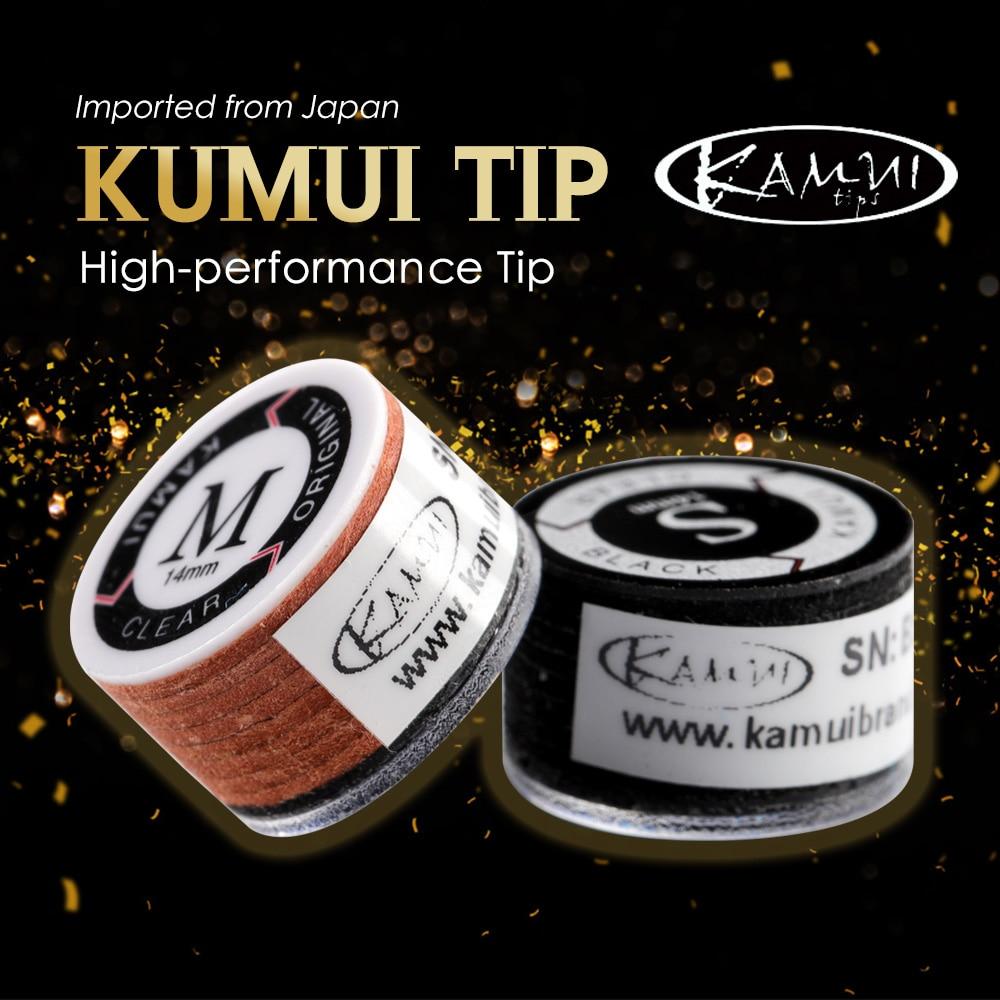 Original JAPAN KAMUI Billiards Pool Cue Tips High Quality Billard Tips Severial Models 1 PieceProfessional Billiards Accessories