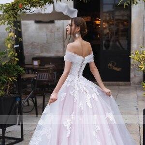 Image 5 - Baziingaaa vestido de boda de lujo, con aplique para hombro, de encaje, Sexy, sin espalda, para novia americana, a medida