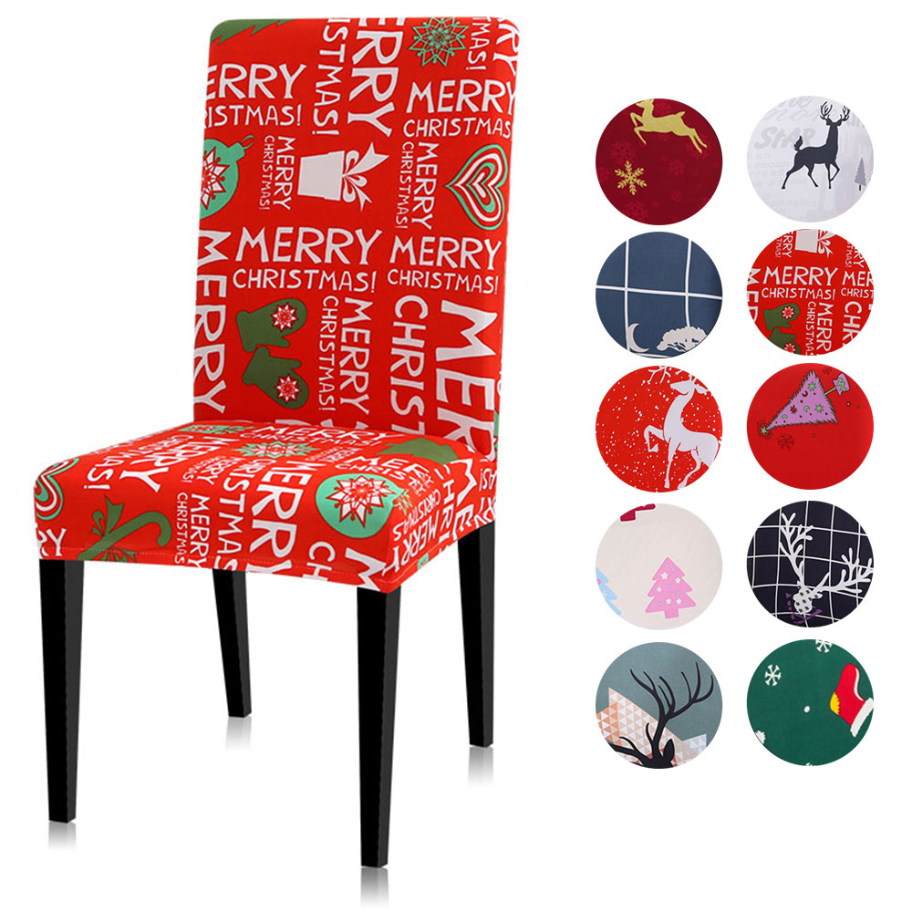 Christmas Chair Covers  Spandex Chair Cover Stretch Modern Printing Universal Covers For Chairs BE37301