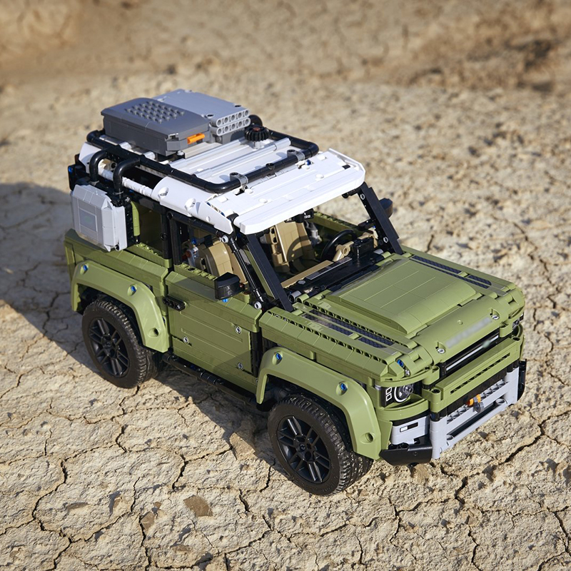 Image 3 - Technic игрушечный автомобиль, совместимый с Legoinglys 42110 Land Rover Defender, набор, Сборная модель автомобиля, строительные блоки, кирпичи, рождественский подарок, игрушка-in Блоки from Игрушки и хобби on AliExpress