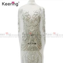 גבוהה סוף מותאם אישית כלה גדול חרוזים applique עיצובים עבור שמלת WDP 069 (כל אבן)