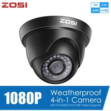 ZOSI – caméra de Surveillance dôme extérieure 1080P 2mp, 4 en 1, système de sécurité domestique, résistant aux intempéries, TVI CVI AHD CVBS