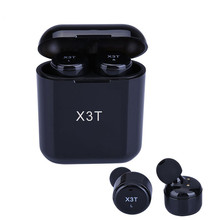 TWS X3T Wireless Bluetooth Earphones Touch Control In-ear Mini Headset Subwoofer Sport Earbuds with Charger Box for iphone MP4 цена