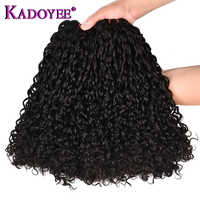 Flexi /Pixie/Pissy Curl Double Drawn Funmi Hair Bundles 100% Brazilian Small Kinky Curly Human Remy Hair Extension High Density
