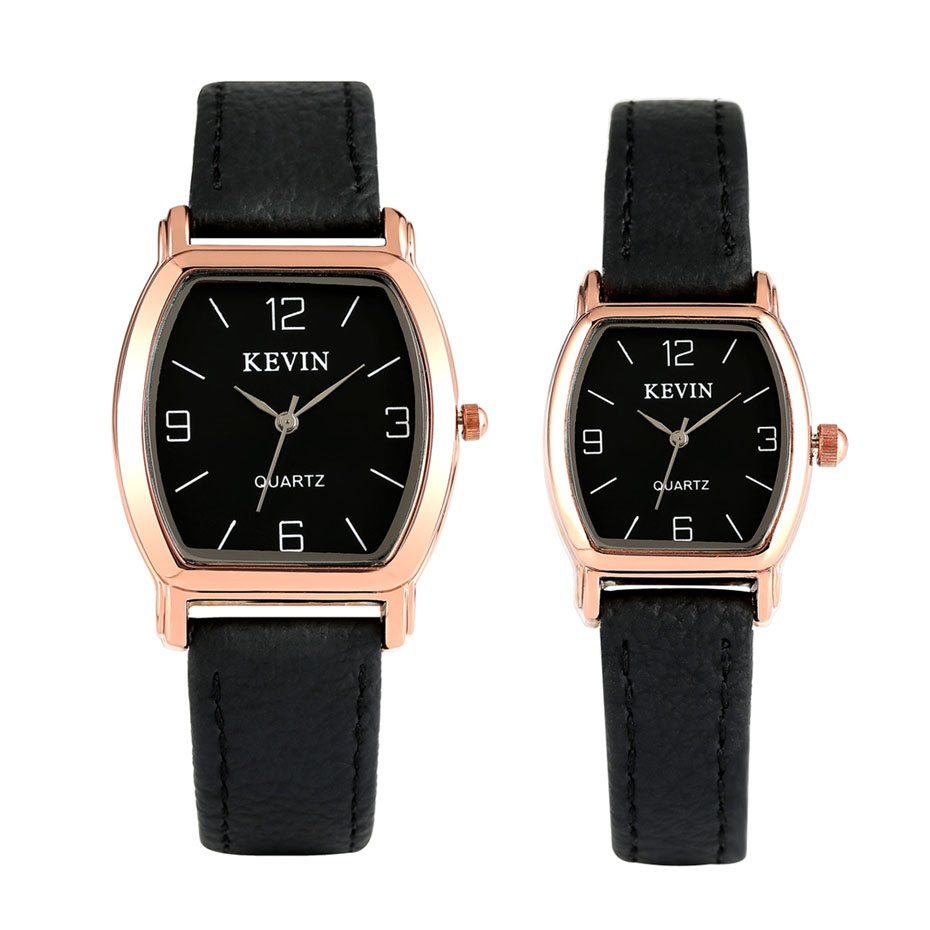 New Arrival 2019 Lovers' Watch Quartz Timepiece Arabic Numerals Display Leather Couple Men Women Watches Gift KEVIN Brand