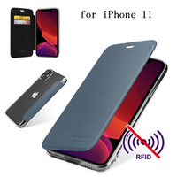 New Fashion Genuine Leather Case Flip Phone Cover for iPhone 11/11 Pro Soft TPU Skin for iPhone 11Pro Max Fundas Coque capa