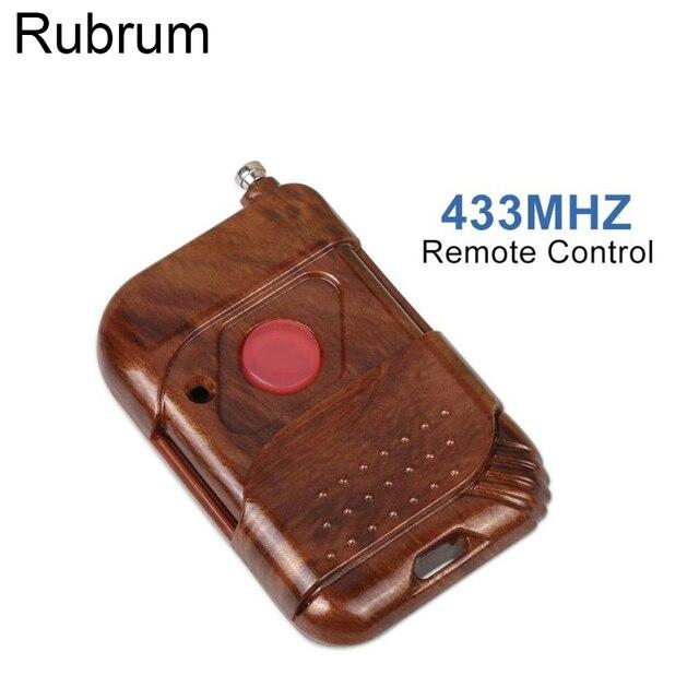 مفتاح للتحكم عن بعد للمنزل الذكي Rubrum 433mhz تيار مستمر 12 فولت 1 CH مفتاح مرحل RF زر دفع 433 Mhz للتحكم عن بعد لباب البوابة