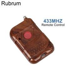 Rubrum interruptor inteligente de Control remoto en casa, 433 mhz, CC, 12V, 1 CH, transmisor de relé RF, botón pulsador, 433 Mhz, Control remoto para puerta