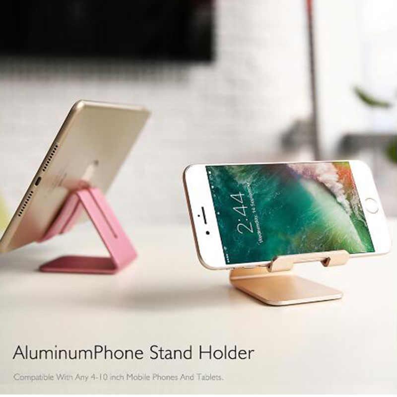 Universale desktop tablet del basamento, antiurto in metallo supporto del telefono, supporto del telefono mobile di alluminio durevole, supporto telefonico