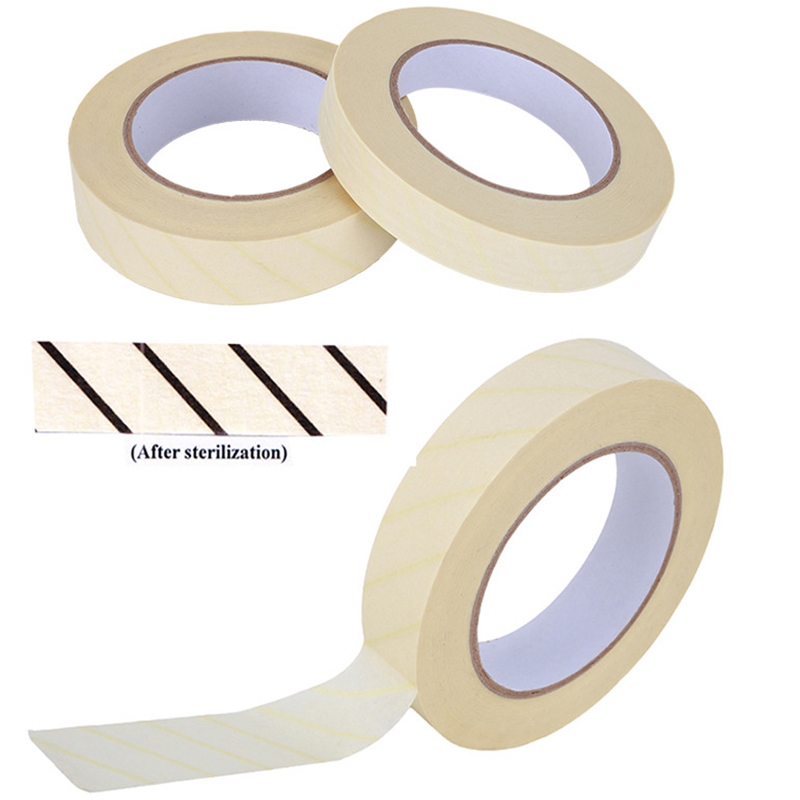 1PC Steam Sterilization Indicator Tape Lead-Free Latex-Free Infection Control 12mm 19mm 25MM