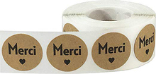 500pcs Per Roll French Thank You Stickers Seal Labels Cute for Cake Packaging Label Stationery Flower Material Age