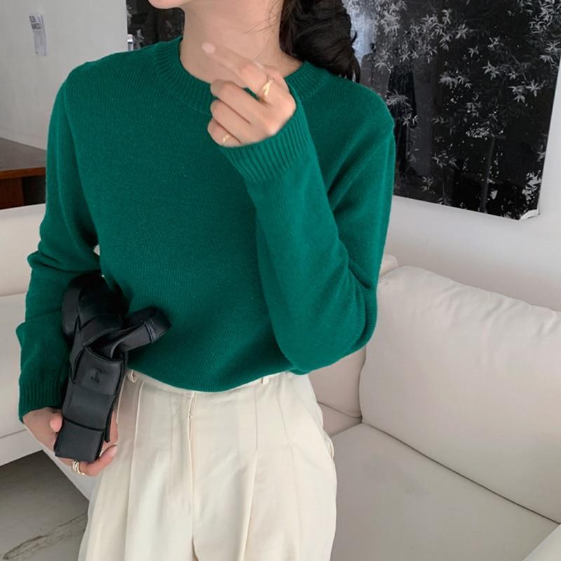Купить новинка повседневный свитер женский пуловер повседневный вязаный