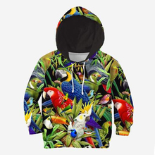 цена на Kids Set birds 3d all over printed Hoodies Children zipper Pullover Cartoon Sweatshirt Tracksuit/hoodies/family t shirt
