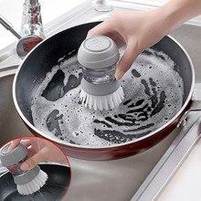 Экологичная автоматическая щетка для чистки жидкостей, бытовые кухонные инструменты, антипригарные щетки для мытья посуды с жидкостью для мыла