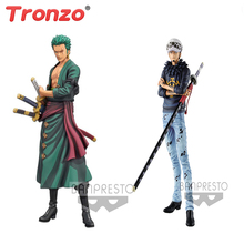 Tronzo Grote Originele Banpresto One Piece Grandista DE GRANDLINE MANNEN Roronoa Zoro Trafalgar Law PVC Action Figure Model Speelgoed