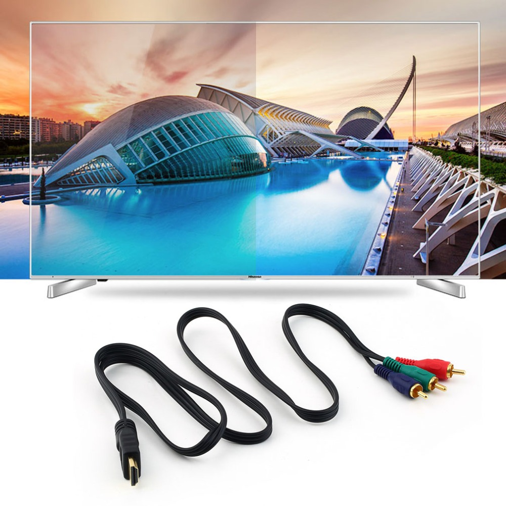 New HDMI To 3RCA 3-RCA 3 RCA Video Component Connection Cable Convert Hub Cord Line Wholesale For Hdmito3 Gold Connector