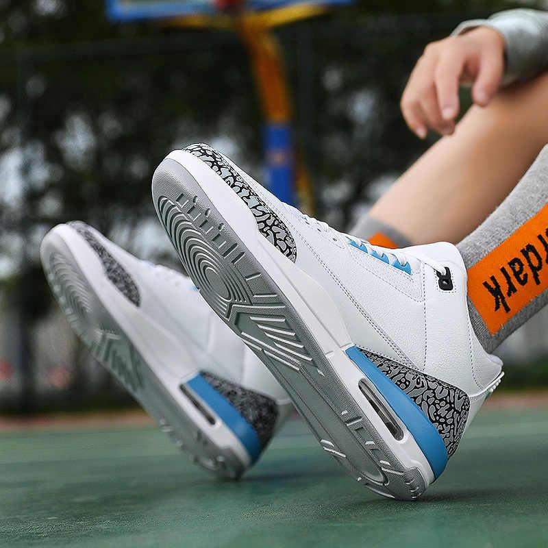 สไตล์ใหม่บาสเกตบอลชายรองเท้าน้ำหนักเบาบาสเกตบอลกลางแจ้งรองเท้าผ้าใบ CUSHIONING Retro JORDAN ข้อเท้าบู๊ทส์ตะกร้า Homme 2020