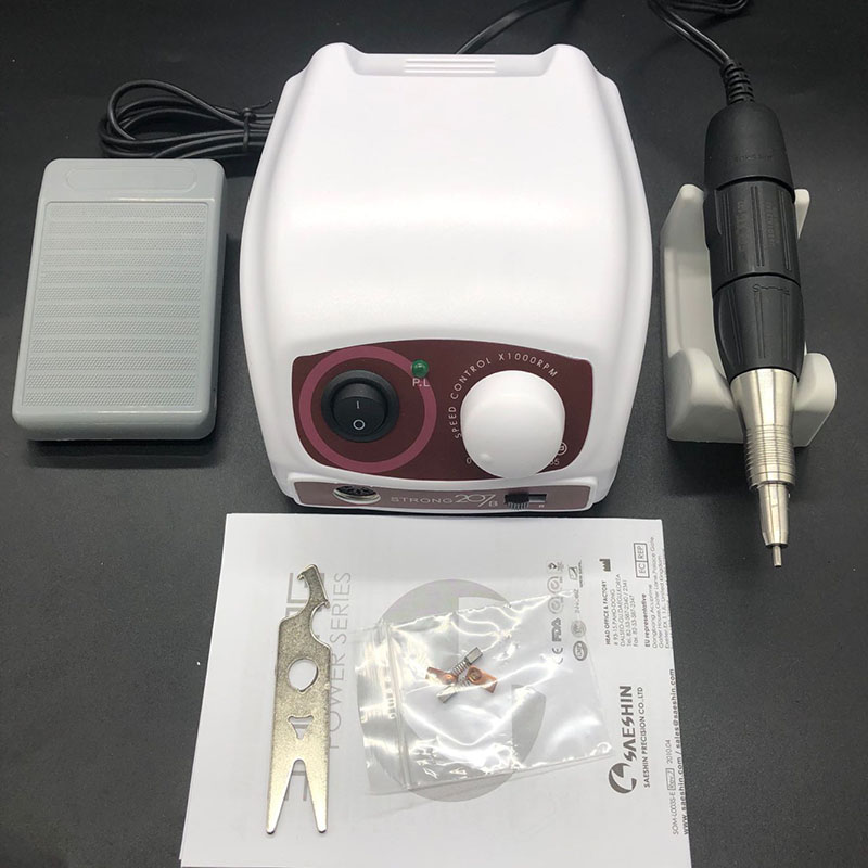 NEW 35K RPM <font><b>STRONG</b></font> 207B Control Box <font><b>STRONG</b></font> 210 <font><b>102</b></font> Micromotor Handpiece Electric Manicure Drill Set For Nail polishing Art Tools image