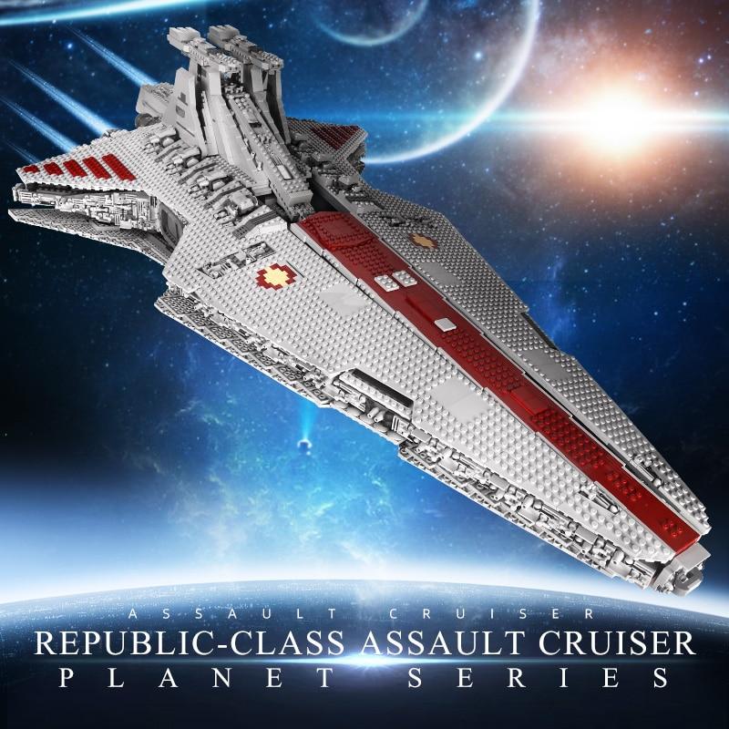 MOULD KING 05077 The MOC Republic Attack Cruiser Set Building Blocks