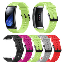 For Samsung Galaxy Gear Fit2 Pro Watch Band Wrist Bracelet Smartwatch for Gear Fit 2 SM-R36 Replacement Silicone Watchband Strap(China)