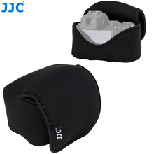 JJC Mirrorless Camera Pouch Bag For Nikon Z50 + 16 50mm lens + Nikon HN 40 / JJC LH HN40 Lens hood Camera Case With Inner Strap