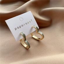 2020 New Korean Vintage Earrings For Women Drop Oil Green Heart Openwork Fashion Jewelry