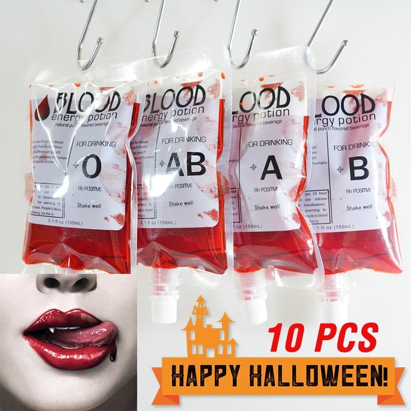 10 шт. контейнер для напитков для косплея на Хэллоуин, сумка для вампира, сумка для крови, реквизит, зомби, сумки для напитков, класс еды, ПВХ, бутылка для воды|Украшения своими руками для вечеринки|   | АлиЭкспресс - Helloween / Хеллоуин