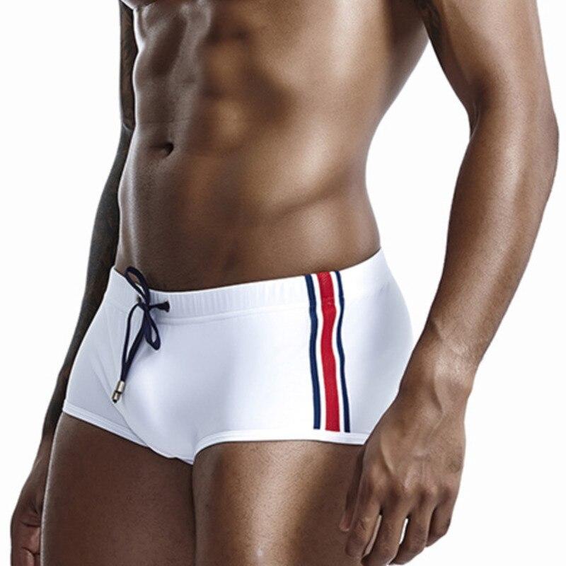 2019 Seobean Swimwear Swimming Trunks Men Swimsuit Sexy Gay Mens Swimming Shorts Male Bikini Boxer Trunk Beach Surf Bath Suit