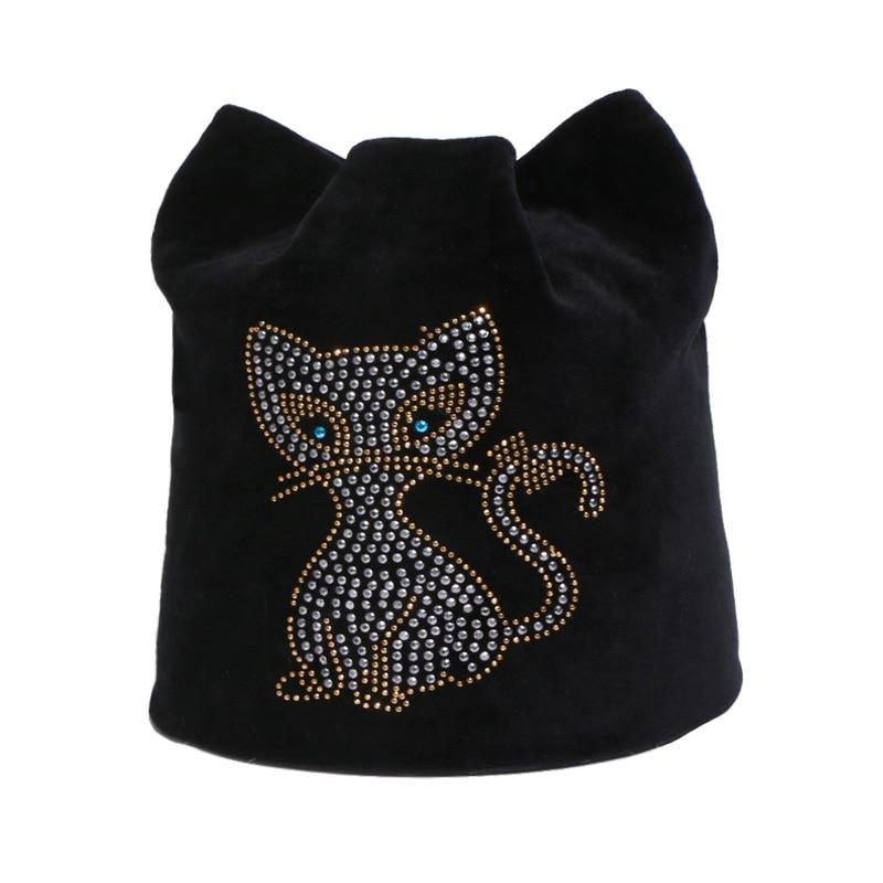 Fashion Women Autumn And Winter   Beanie   Hats Cute Girl High Quality Hedging Caps Windproof Warm Cat Earmuffs Female   Beanies   Hat