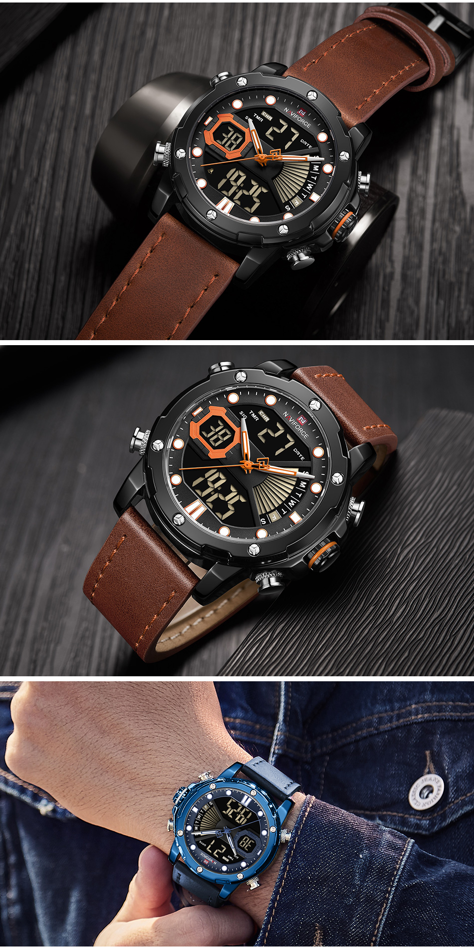 H540990344b6a490ba624586e2c32e990l NAVIFORCE Men Watch Top Luxury Brand Fashion Sports Wristwatch