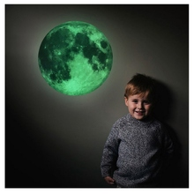 3D Luminous Moon Wall Sticker Glow In The Dark DIY Stickers Kids Bedroom Living Room Home Decoration Wall Removable Decor Paper 3pcs set 3d removable room decoration wall stickers